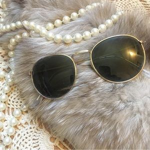 Vintage Style Gold Rimmed Sunglasses